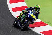Valentino Rossi of Italy and Movistar Yamaha MotoGP rides during free practice for the MotoGP of Catalunya at Circuit de Catalunya on June 9, 2017 in Montmelo, Spain.(ALTERPHOTOS/Rodrigo Jimenez)