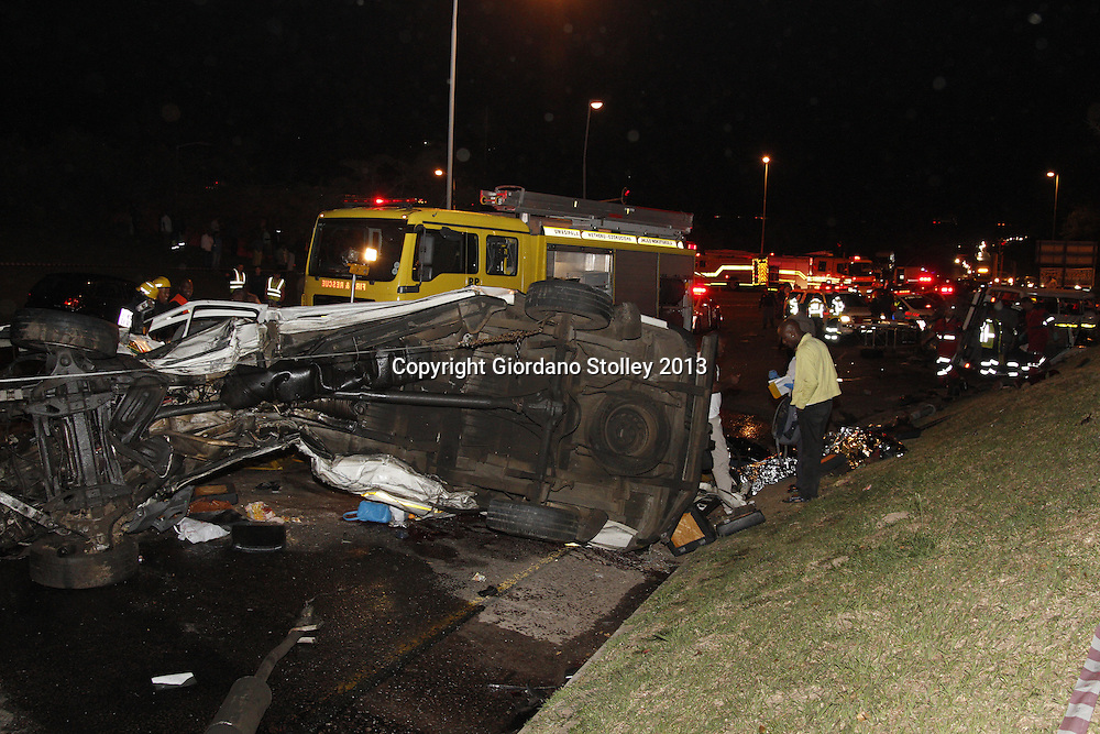 DURBAN - 5 September 2013 - At least 24 people were killed when a lorry's brakes failed on Field's Hill in Pinetown and ploughed through four taxis and a car. Picture: Allied Picture Press/APP