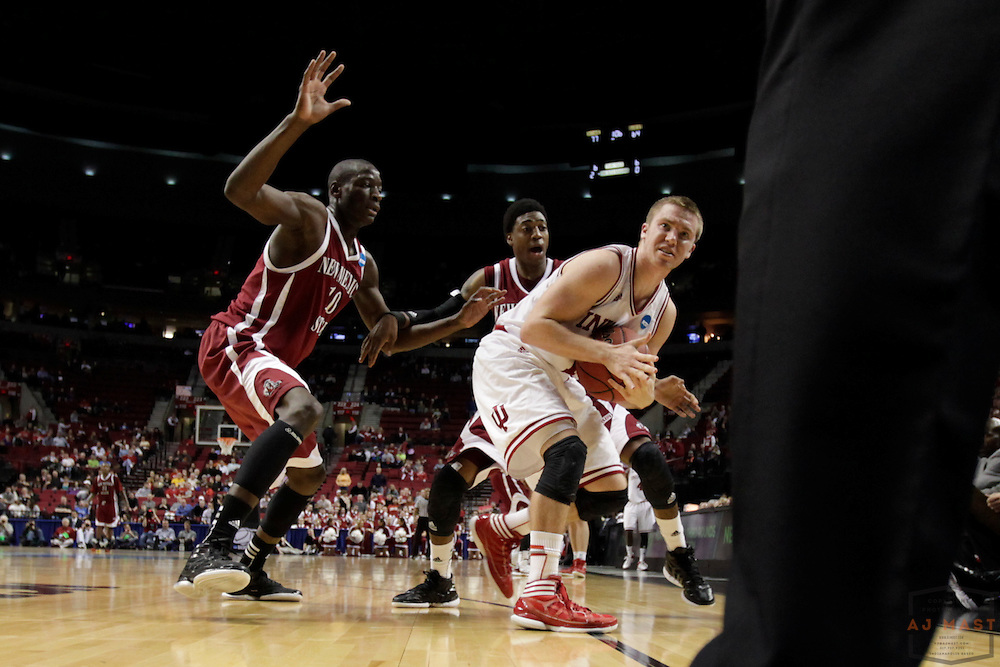 15 March 2012: Indiana Guard Jordan Hulls (1)  as the New Mexico State Aggies played the Indiana Hoosiers in the Second Round of the NCAA Division I Men's Basketball Championship at the Rose Garden in Portland, OR.
