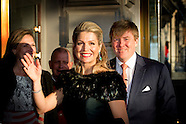 King Willem-Alexander, Queen Maxima and Princess Beatrix of The Netherlands attend the Concert on th