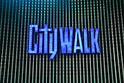 Universal City Walk in LA at Night