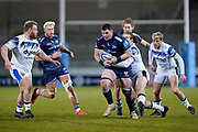 Sale Sharks lock James Phillips during a Gallagher Premiership Round 9 Rugby Union match, Friday, Feb 12, 2021, in Leicester, United Kingdom. (Steve Flynn/Image of Sport)
