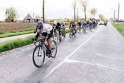 Elena Cecchini (CANYON//SRAM Racing) tests the legs of the others in the front group at Dwars door de Westhoek 2016. A 127km road race starting and finishing in Boezinge, Belgium on 24th April 2016.