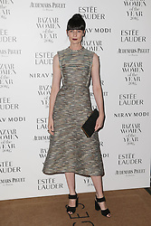Erin O'Connor arrives at Claridge's Hotel in London to attend the Harper's Bazaar Women of the Year Awards.