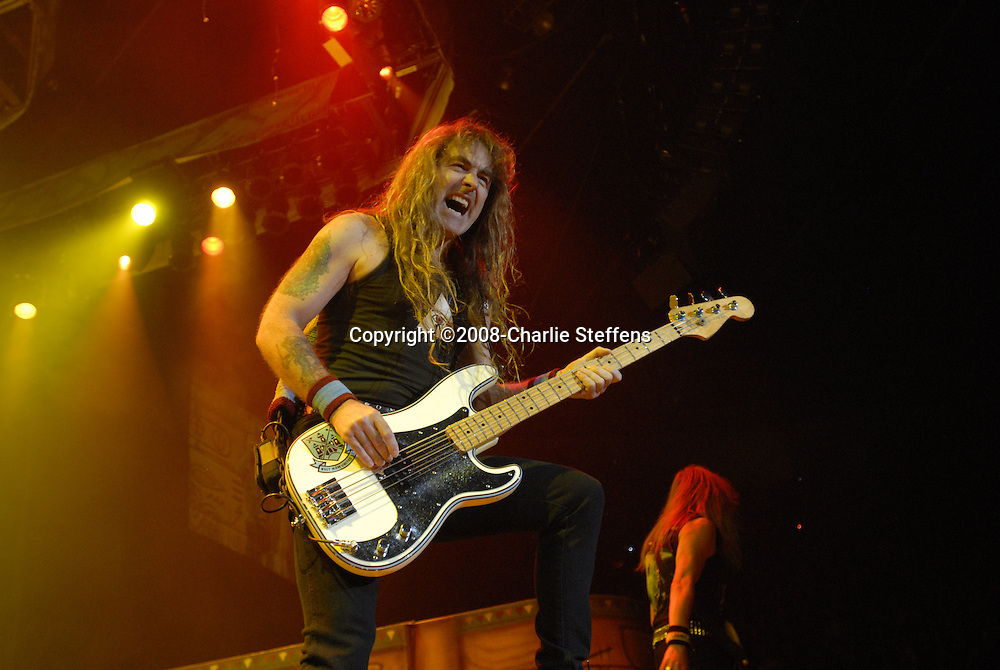 Steve Harris<br /> Iron Maiden<br /> The Forum<br /> Inglewood, CA<br /> 2/19/2008