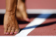Hand of Floria Guei in women 400m during the Athletics French Championships 2018, in Albi, France, on July 8th, 2018 - Photo Philippe Millereau / KMSP / ProSportsImages / DPPI