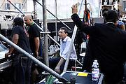 Ignazio Marino, candidato sindaco di Roma, in atteso di salire sul palco dell'ultimo comizio prima del ballottaggio a Piazza Farnese<br /> Roma - 7 giugno 2013. Matteo Ciambelli / OneShot