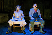 """Rhonda Boutte and Raphael Parry perform during Kitchen Dog Theater's new production of Eugene Ionesco's """"The Chairs"""" on Thursday, February 7, 2013 in Dallas, Texas. (Cooper Neill/The Dallas Morning News)"""