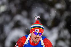 March 9, 2019 - –Stersund, Sweden - 190309 Timofei Lapshin of Korea Republic competes in the Men's 10 KM sprint during the IBU World Championships Biathlon on March 9, 2019 in Östersund..Photo: Petter Arvidson / BILDBYRÃ…N / kod PA / 92252 (Credit Image: © Petter Arvidson/Bildbyran via ZUMA Press)