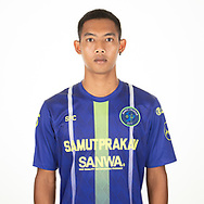 THAILAND - APRIL 09: Jitti Khumkudkhamin #35 of Samut Prakan City FC on April 09, 2019.<br /> .<br /> .<br /> .<br /> (Photo by: Naratip Golf Srisupab/SEALs Sports Images/MB Media Solutions)