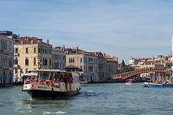 A view of a boat bus in Venice. From a series of travel photos in Italy. Photo date: Wednesday, February 13, 2019. Photo credit should read: Richard Gray/EMPICS