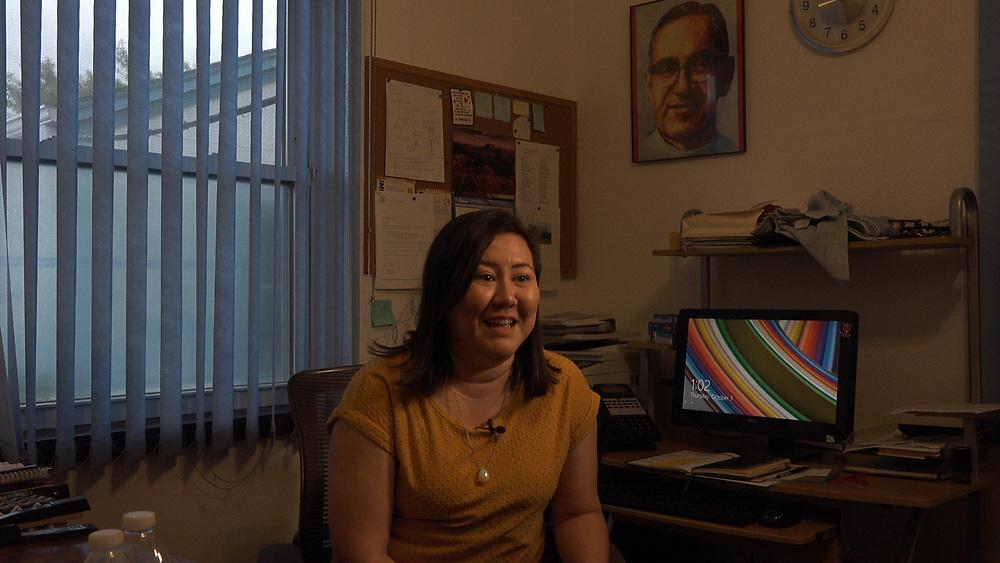 Magda Bolland, Executive Director of La Posada Providencia, a shelter for asylum seekers near the Mexico border in the Rio Grande Valley, TX.
