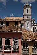 Salvador_BA, Brasil.<br /> <br /> Vista de casaroes e da  Igreja Sao Pedro dos Clerigos em Salvador, Bahia.<br /> <br /> View of houses and the Sao Pedro dos Clerigo church in Salvador, Bahia.<br /> <br /> Foto: ALEXANDRE BAXTER / NITRO