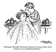 """Bilingual. Biweekly. Bicoastal. Bisexual. I mean, honey, their romance was a splendoured thing."""
