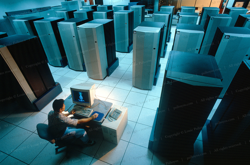 IBM Supercomputer series R/S 6000 at the Maui Supercomputer Center in Hawaii.
