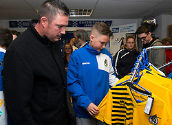 Bristol Rovers fans look at the new shirts in the Club Shop at the Memorial Stadium - Mandatory by-line: Dougie Allward/JMP - 07966386802 - 26/07/2015 - SPORT - FOOTBALL - Bristol,England - Memorial Stadium - Bristol Rovers Open Day - Bristol Rovers Open Day