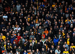 Wolverhampton Wanderers fans watch the match from the stand- Mandatory by-line: Nizaam Jones/JMP - 02/03/2019 - FOOTBALL - Molineux - Wolverhampton, England -  Wolverhampton Wanderers v Cardiff City - Premier League