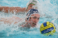 The Commonwealth Water Polo Championships 2014, Aberdeen Sports Village Aquatics Centre 12 April 2014<br /> Scotland v South Africa Bronze Medal Match<br /> Keith Anderson of SCO<br /> <br /> <br /> Picture -  Neil R Hanna  - mobile 07702246823
