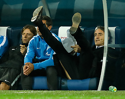 August 24, 2017 - Saint Petersburg, Russia - FC Zenit Saint Petersburg head coach Roberto Mancini (R) during the UEFA Europa League play-off round second leg match between FC Zenit St. Petersburg and FC Utrecht at Saint Petersburg Stadium on August 24, 2017 in Saint Petersburg, Russia. (Credit Image: © Mike Kireev/NurPhoto via ZUMA Press)