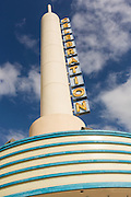 Movie Theatre designed by Cesar Pelli in the Disney created master planned community of Celebration, Florida.