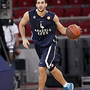 Anadolu Efes's Dogus BALBAY during their Two Nations Cup basketball match Anadolu Efes between Panathinaikos at Abdi Ipekci Arena in Istanbul Turkey on Saturday 01 October 2011. Photo by TURKPIX