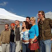 BNN winterpresentatie 2003, Patrick lodiers, Egbert-Jan Weeber, Eddy Zoey, Katja Schuurman, Eric Corton, Bridget Maasland, Ruud de Wild