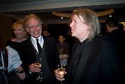 HILTON MCRAE; CHRISTOPHER HAMPTON, The Laurence Olivier Awards, The Grosvenor House Hotel. Park Lane. London. 8 March 2009 *** Local Caption *** -DO NOT ARCHIVE -Copyright Photograph by Dafydd Jones. 248 Clapham Rd. London SW9 0PZ. Tel 0207 820 0771. www.dafjones.com<br /> HILTON MCRAE; CHRISTOPHER HAMPTON, The Laurence Olivier Awards, The Grosvenor House Hotel. Park Lane. London. 8 March 2009