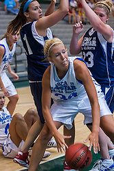 21 June 2008: Kayla Knuf (34) gathers in a loose ball. IBCA ( Illinois Coaches Basketball Association) Girls Class 3 & 4 All Star Game held at the Shirk Center on the Campus of Illinois Wesleyan University in Bloomington Illinois
