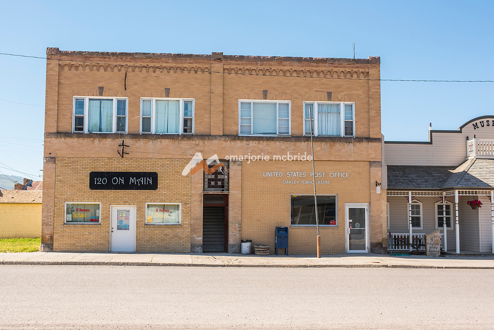 United States Post Office on Main Street in Oakley, Idaho.