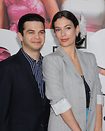 """WESTWOOD, CA - APRIL 28: Samm Levine and guest arrive at the premiere of Universal Pictures' """"Bridesmaids"""" held at Mann Village Theatre on April 28, 2011 in Los Angeles, California."""