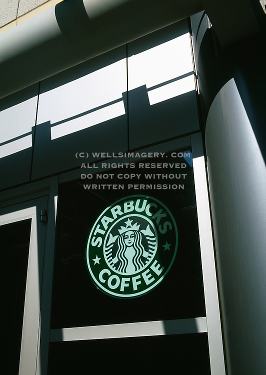 Image of Starbucks Coffee storefront in downtown Seattle, Washington, Pacific Northwest by Andrea Wells