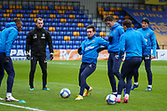 AFC Wimbledon defender Luke O'Neill (2) warming up prior to kick off during the EFL Sky Bet League 1 match between AFC Wimbledon and Sunderland at Plough Lane, London, United Kingdom on 16 January 2021.