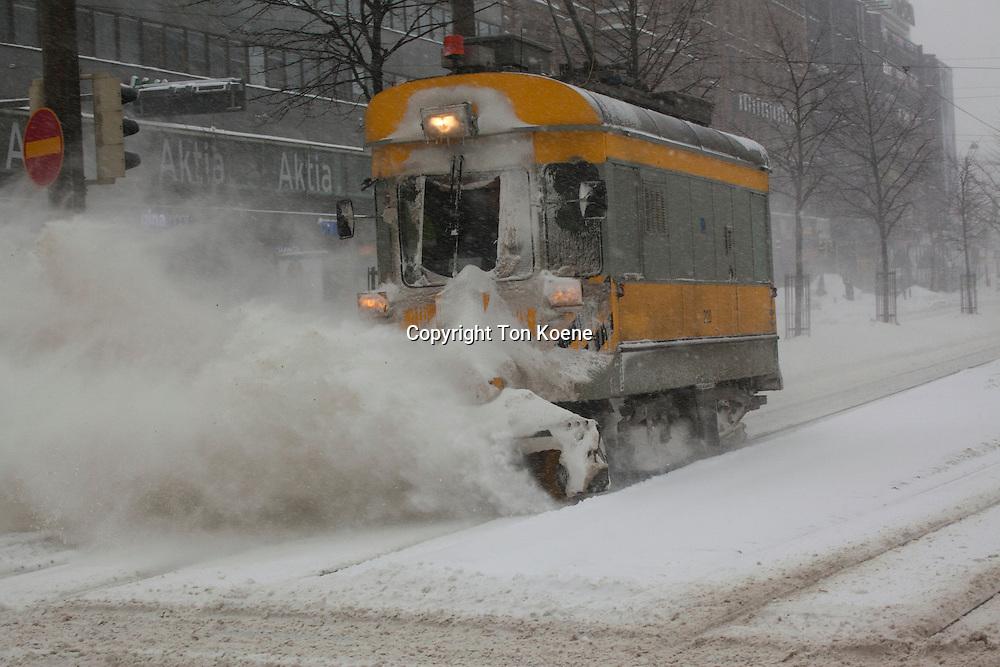 snow clearing in Helsinki