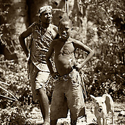 """""""Hadzabe Bushmen""""                                          Tanzania<br />  While visiting the Hadzabe, I turned to see this scene. I felt as if I was taken back to the Africa of a century ago."""