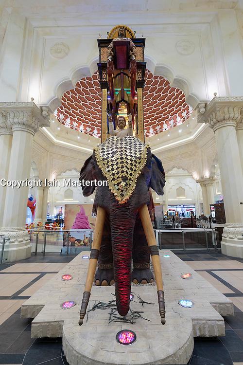 Interior of India Court at  Ibn Battuta shopping mall in Dubai United Arab Emirates