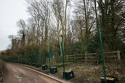 Wendover, UK. 20th February, 2021. An area of woodland alongside Small Dean Lane which is currently being cleared  by HS2 Ltd for the HS2 high-speed rail link. Anti-HS2 activists continue to occupy the Wendover Active Resistance Camp on the opposite side of the rail line from the woodland.