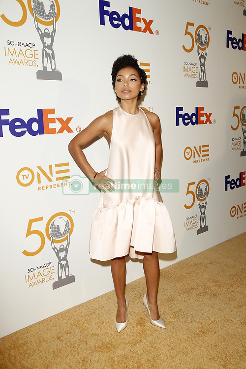 March 9, 2019 - Los Angeles, CA, USA - LOS ANGELES - MAR 9:  Logan Browning at the 50th NAACP Image Awards Nominees Luncheon at the Loews Hollywood Hotel on March 9, 2019 in Los Angeles, CA (Credit Image: © Kay Blake/ZUMA Wire)