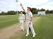 Captains Greg Hay of CD and Cole McConchie of Canterbury. Canterbury vs. Central Districts Day 1, 1st round of the 2021-2022 Plunket Shield cricket competition at Hagley Oval, Christchurch, on Saturday 23rd October 2021.<br /> © Copyright Photo: Martin Hunter/ www.photosport.nz