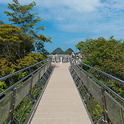 Suspension bridge walkway on the top of Mount Mat Cincang. Langkawi, Kedah, Malaysia