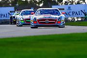 2012 FIA GT1 World Championship.Donington Park, Leicestershire, UK.27th - 30th September 2012.Marc Basseng / Markus Winkelhock, Mercedes-Benz SLS AMG GT3..World Copyright: Jamey Price/LAT Photographic.ref: Digital Image Donington_FIAGT1-19025