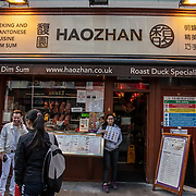 Haozhan in London Chinatown Sweet Tooth Cafe and Restaurant at Newport Court and Garret Street on 15 June 2019, UK.