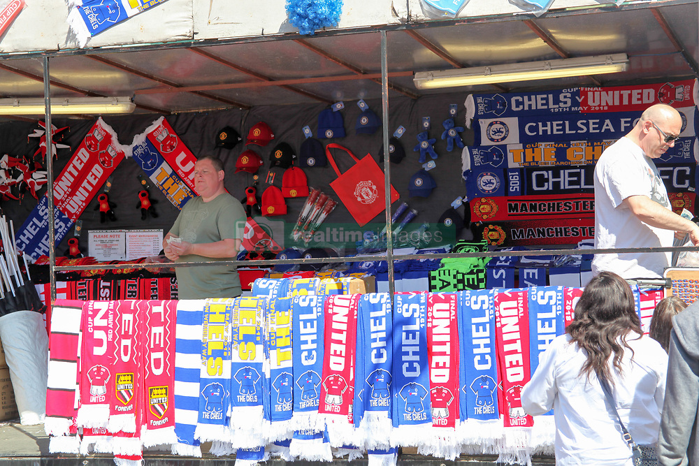 May 19, 2018 - London, England, United Kingdom - Stall selling Chelsea and Man U Memorabilia at Wembley  attend The Emirates FA Cup Final between Chelsea and Manchester United at Wembley Stadium on May 19, 2018 in London, England. (Credit Image: © Alex Cavendish/NurPhoto via ZUMA Press)