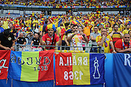 Romania fans fans during the Group A Euro 2016 match between France and Romania at the Stade de France, Saint-Denis, Paris, France on 10 June 2016. Photo by Phil Duncan.