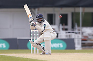 Yorkshire All-rounder Adil Rashid evades an attempted bouncer during the Specsavers County Champ Div 1 match between Yorkshire County Cricket Club and Surrey County Cricket Club at Headingley Stadium, Headingley, United Kingdom on 10 May 2016. Photo by Simon Davies.