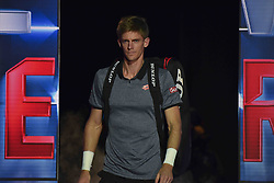 November 15, 2018 - London, England, United Kingdom - Kevin Anderson of South Africa enters the court during his round robin match against Roger Federer of Switzerland during Day Five of the Nitto ATP Finals at The O2 Arena on November 15, 2018 in London, England. (Credit Image: © Alberto Pezzali/NurPhoto via ZUMA Press)