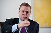 21 JAN 2010, BERLIN/GERMANY:<br /> Iaian Conn, Chief executive Refining and Marketing, Executive member of the BP board of directors, waehrend einem Interview, BP Buero Berlin<br /> IMAGE: 20100121-01-017
