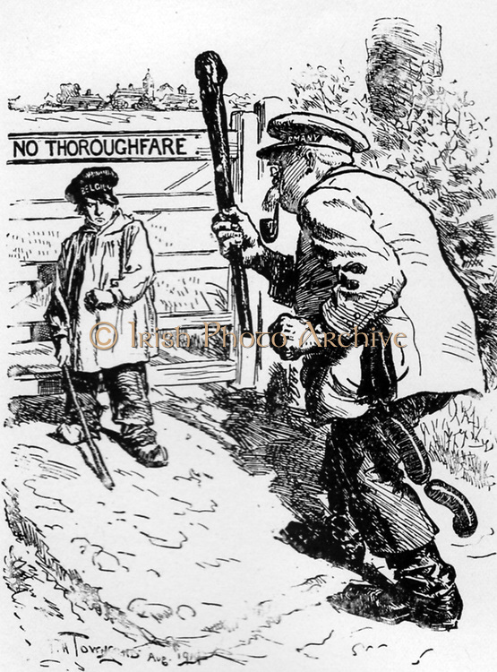 Bravo, Belgium!  Cartoon which appeared in Punch, August 12, 1914.