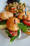 The Salad Sandwich Sampler is one of the dishes served at Tastefully Yours Cafe and Catering, located on 1401 S. Church St. in Charlotte, NC.