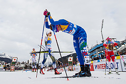 February 21, 2019 - Seefeld In Tirol, AUSTRIA - 190221 Stina Nilsson of Sweden and Elisa Brocard of Italy after competing in women's cross-country skiing sprint qualification during the FIS Nordic World Ski Championships on February 21, 2019 in Seefeld in Tirol..Photo: Joel Marklund / BILDBYRN / kod JM / 87879 (Credit Image: © Joel Marklund/Bildbyran via ZUMA Press)