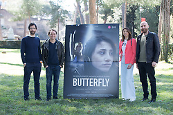March 29, 2019 - Roma, RM, Italy - Irma Testa with directors Alessandro Cassigoli and Casey Kauffman, and producer Michele Fornasero..Photocall at the Casa del Cinema in Rome with Italian boxer Irma Testa, protagonist of the documentary film ''Butterfly' (Credit Image: © Pacific Press via ZUMA Wire)